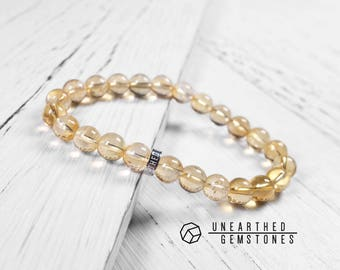 Genuine Citrine Bracelet - November Birthstone Bracelet, Birthstone Jewellery, Yellow Citrine Jewelry, Gold Bracelet