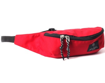 Fanny Pack, Hip Bag, Waist Bag, Travel Bags, Pouches, Hipster, Small Nylon Bag, GO Fanny red / to order
