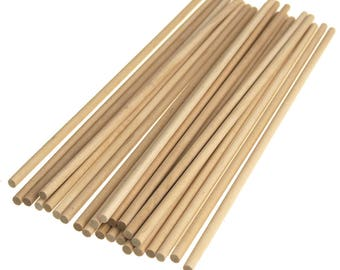 Wooden Craft Dowel, Natural, 10-Inch, 25-Piece
