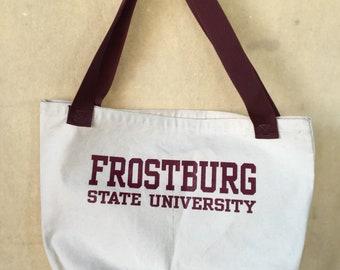 Vintage Frostburg State University tote bag