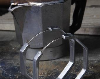 Mocha Earrings with Silver hook