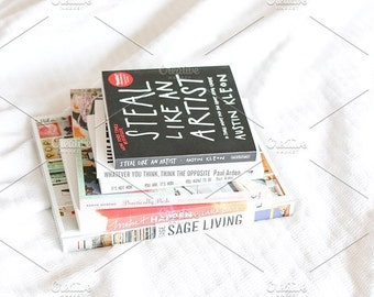 Styled Stock Photo | Books On Bed | Blog stock photo, stock image, stock photography, blog photography