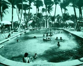 Swimming Pool Art, Pool Photograph, Mid Century Modern Art, Aqua