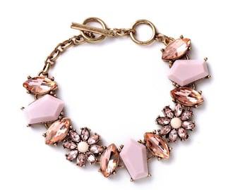 Statement bracelet, Wedding bracelet, Gemstone bracelet, Crystal bracelet, Bridal bracelet - Phylicia