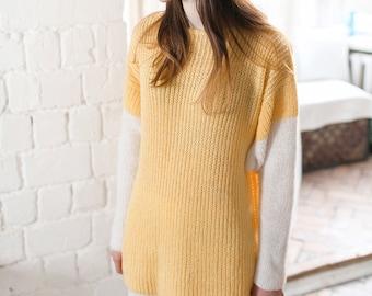 Oversized sweater Knit sweater long sweater loose knit sweater chunky sweater wool sweater pregnancy pullover jumper women slouchy sweater