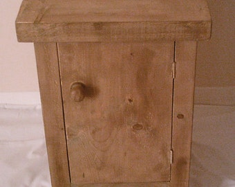 New Hand Made Rustic Solid Wood Bedside Cabinet 043