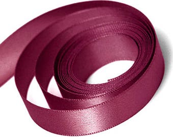 Wine Satin Ribbon available in 2 ribbon widths 15mm, 23mm