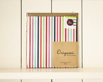 Origami folding paper, Japanese Origami, Paper folding, origami paper sheets, origami kit, Midori Japan, Colorful stripes