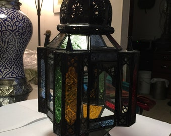 Handmade Moroccan Hanging Candle Lantern