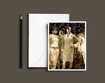 Mannequins in a Store Window Note Cards (set of 8)