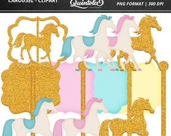 Digital kit - Carousel Clipart