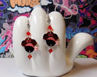 Minnie Mouse Pirate Mini Dangle Earrings