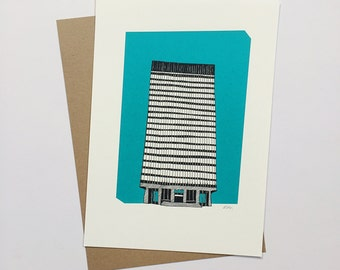 CLEARANCE - A5 Print - Sheffield University Arts Tower