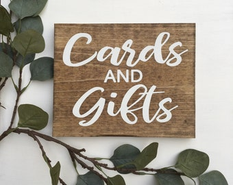 Cards & Gifts Sign Rustic Wood Sign Gift Table Sign Wood Wedding Sign Woodland Wedding Sign Wedding Reception Sign Graduation Sign
