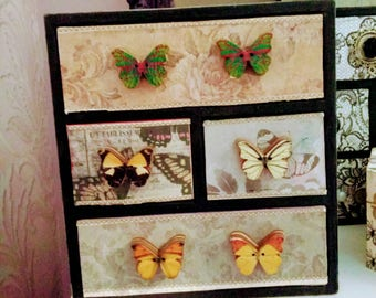 4 drawered stunning butterfly chubby chic design