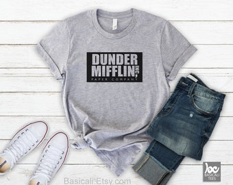 The Office Shirt - DUNDER MIFFLIN SHiRT - Unisex Soft Cotton Tee,Office Shirt, Many TShirt Colors,Xtra Small,Small,Med,Large,XLarge,XXL