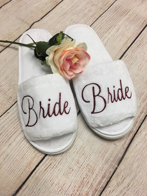 PERSONALISIERTE Braut Hausschuhe Brautdusche Brautjungfer