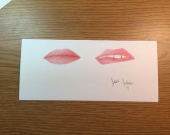 Colored Pencil Lip Prints // prismacolor pencils // fashion // beauty // makeup // gift // drawing // picture // gifts for her //