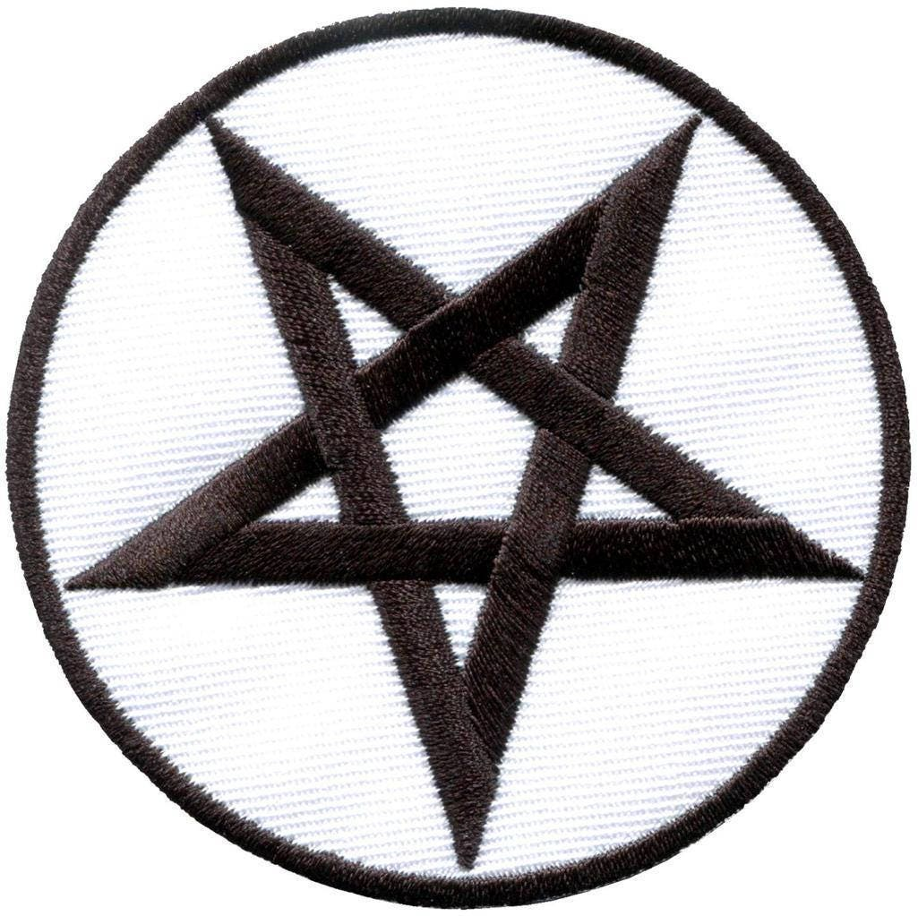 Pentagram pentacle symbol satanic star embroidered patch pagan description satanic pentagram biocorpaavc Choice Image