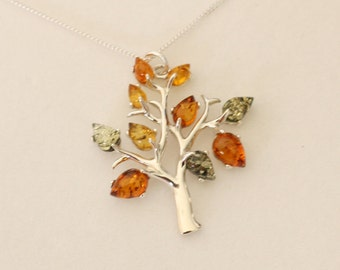 Reduced - Genuine Natural Baltic Amber Tree Necklace