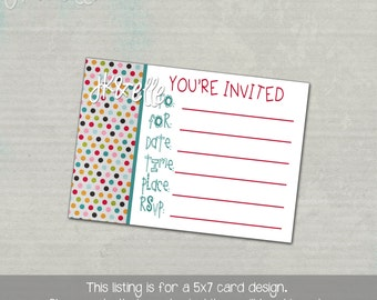 Fill in the Blanks Birthday Invitation: INSTANT DOWNLOAD