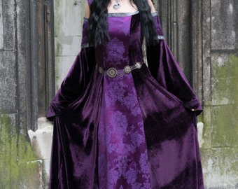 Lorelei Dress - *most colours available* Handmade Velvet  Medieval Pre Raphaelite Game of Thrones Pagan Dress