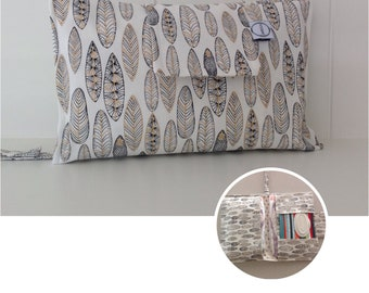 Metallic leaf Nappy Wallet with wipes pocket