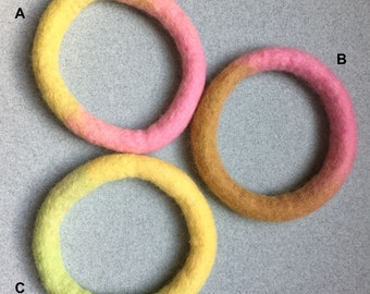 Bracelets ~ Wet Felted Bracelet. Available in a variety of colors (Small)