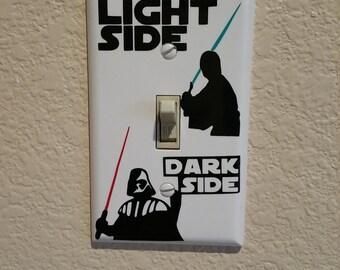 Star Wars, Star Wars Gift, Starwars Gift, Geek Gift, Star Wars Light Switch, Gift Under 10, Star Wars Art, Star Wars Decor