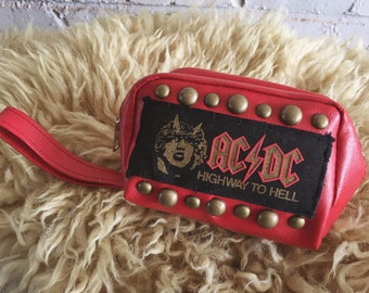 Highway To Hell studded vintage pouch