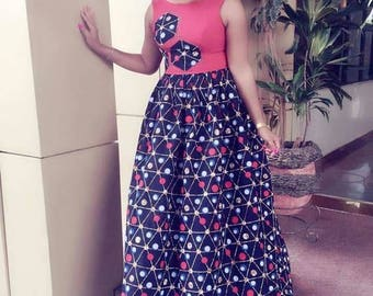 Swagga Sleeveless Gown with Plinting