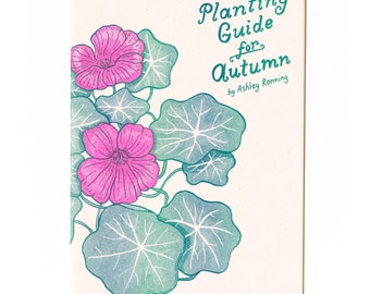 Planting Guide for Autumn risograph art zine