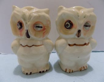 Vintage Shawnee Winking Owl Salt and Pepper Shakers Shawnee Pottery 33