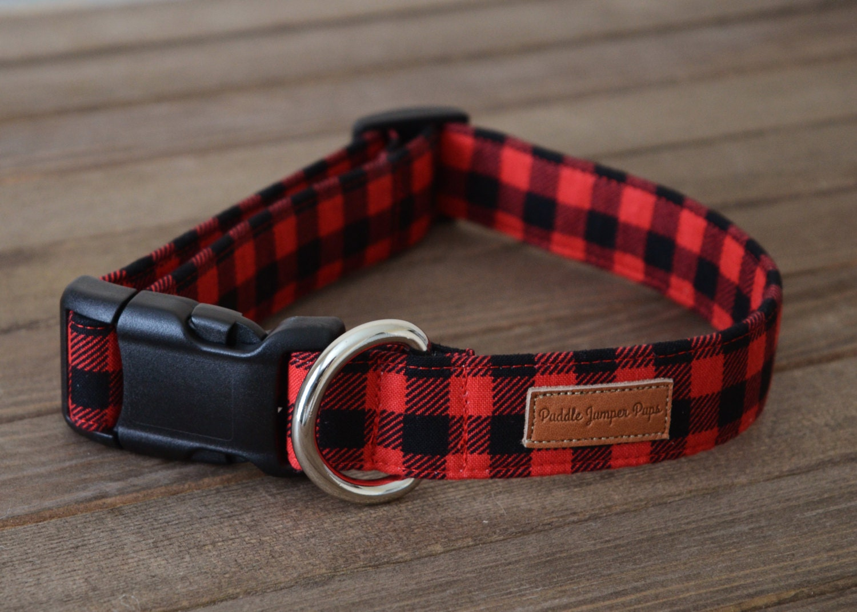 Red black lumberjack mini buffalo plaid dog collar the oakley gallery photo gallery photo jeuxipadfo Gallery