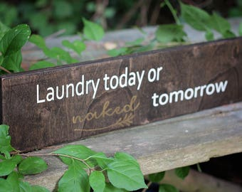 Laundry sign,home decor,rustic laundry sign