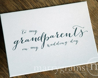Wedding Card to Grandparents of the Bride or Groom Cards, Grandmother, Grandfather - To My Grandparents on My Wedding Day Thank You CS09