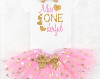 miss onederful first birthday outfit baby girl first birthday outfit girls first birthday outfits pink and gold first birthday outfit