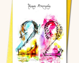 28th extra large birthday greeting card a48 x