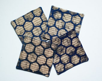 Denim Coasters set of 4