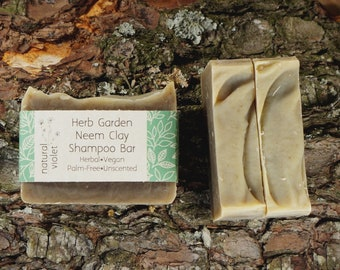 Neem Shampoo Bar - Solid Shampoo Bar - All Natural Shampoo - Organic Palm Free Vegan Shampoo - Zero Waste Shampoo Soap