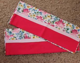 Pink Flowered Standard Pillowcase-Set available