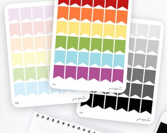 Big Flag Stickers | Functional Stickers | Rainbow Stickers | Page Flags | Erin Condren Life Planner Stickers | Bullet Journal Stickers