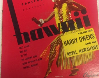 "Harry Owens and his Royal Hawaiians   2-Record Set 45 rpm ""Hawaii"""