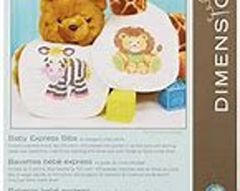 Stamped Cross Stitch Kit -  Dimensions Baby Express Bibs