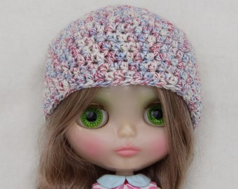 crochet Blythe hat /beanie in pastel colors