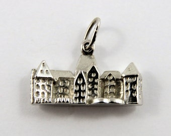 Banff Springs Hotel Sterling Silver Charm of Pendant.