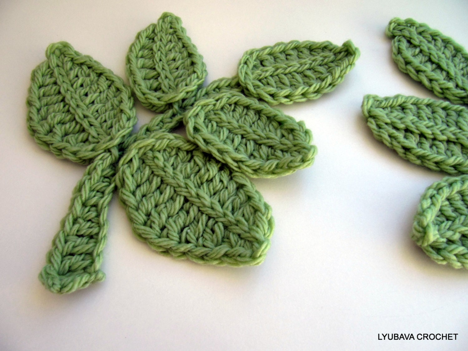 Crochet pattern leaf branch pattern crochet flower applique zoom bankloansurffo Image collections