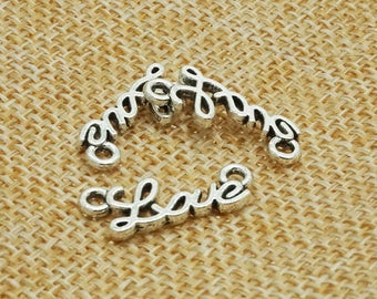 25pcs Antique silver royal love symbol connectors jewllery finding  for hair clip / accessory DIY 10 mm x 32 mm (500-310B)