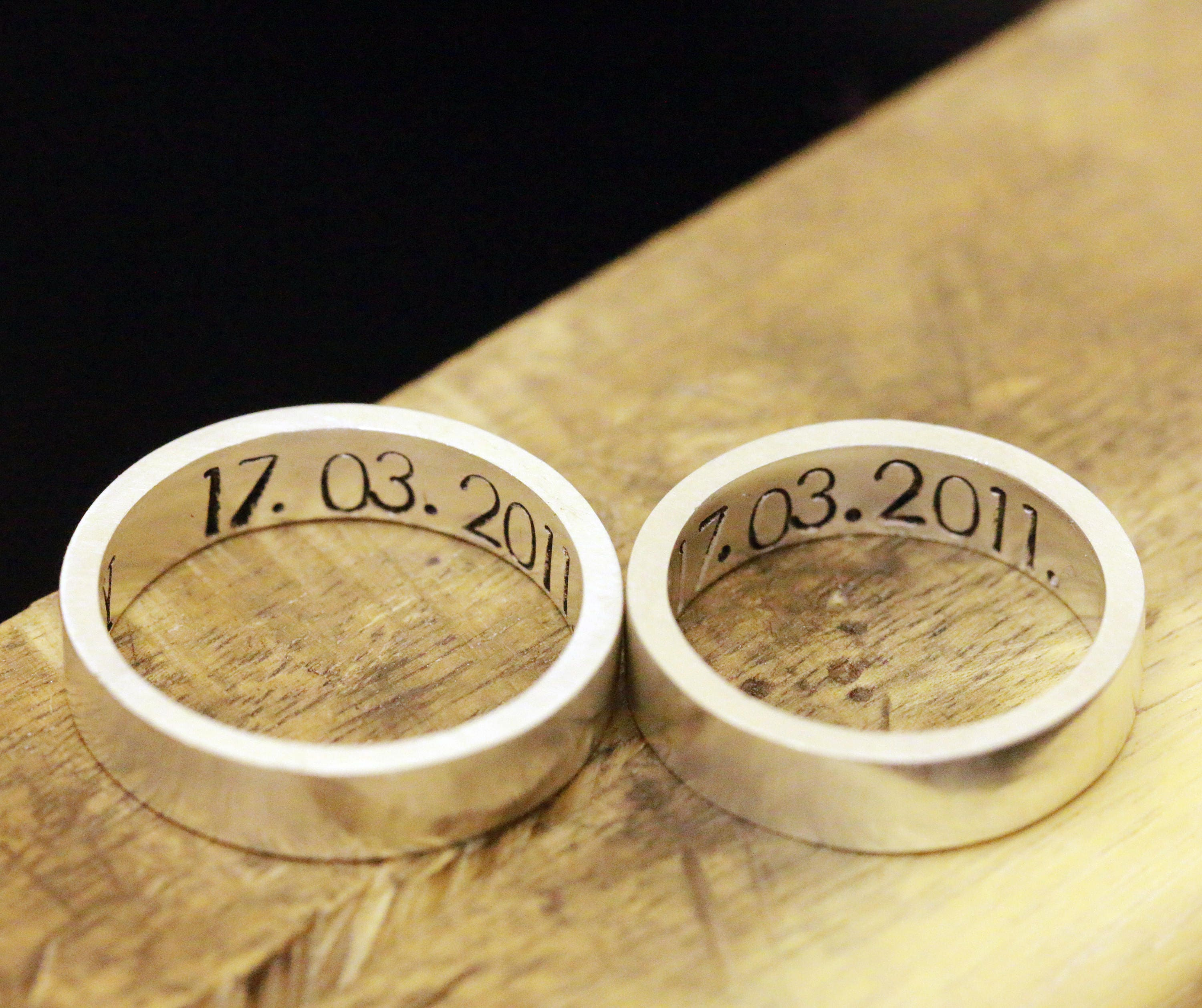jewellery bespoke bands a messages from hidden with wedding blog message
