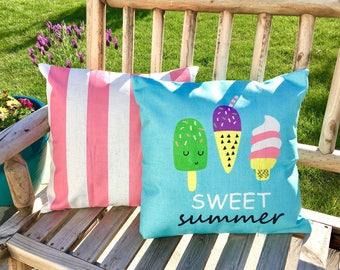 Sweet summer-pillow cover